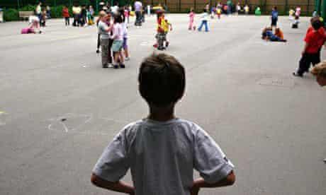 Child alone in playground