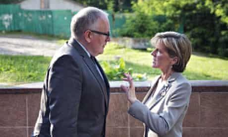 Frans Timmermans and Julie Bishop