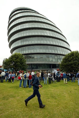 Architecture: City Hall, GLA building, headquarters for the Greater London Assembly