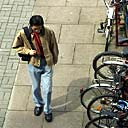Student and bicycles, Imperial College London