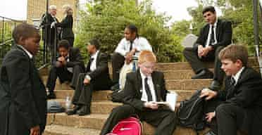 Pupils at Highbury Grove school in Islington, London