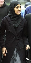 Shabina Begum arrives at the House of Lords