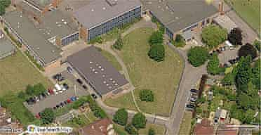 The satellite image of a penis on the lawn of Bellemoor school in Southampton