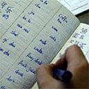 A pupil studying Mandarin