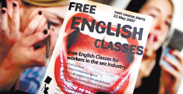 The x:talk information leaflet for sex workers wishing to learn English