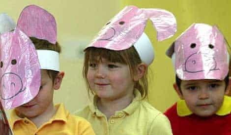 Nursery school pupils