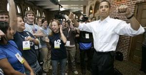 Barack Obama at Iowa university