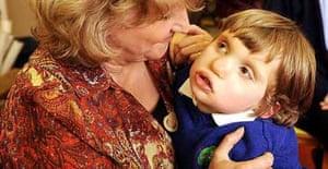 Carol Thomas with her deafblind son Jamie at Portland Nursery in Huddersfield