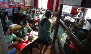 Pupils at King Edward VI high school for girls in the classroom for a maths lesson