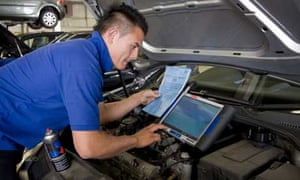 VW apprentice Michael Chryssof at work