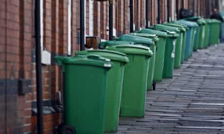 Recycling bins in Nottingham