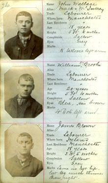 Police mugshots of Manchester gangsters