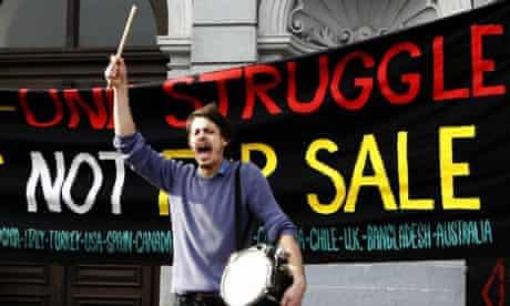 Students protest in central Zagreb