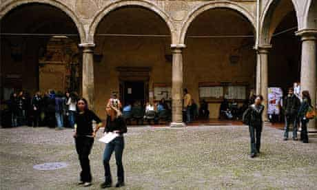 Students at Bologna University in Italy
