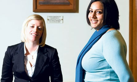 Elizabeth Milsom and Farrah Bhatti both decided against a university science degree after doing their PhDs. Photograph: David Levene