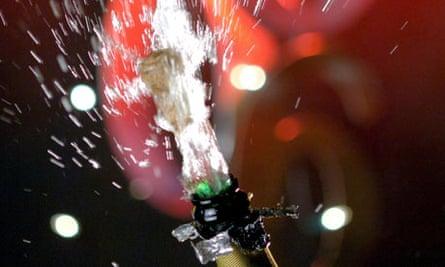Champagne cork pops