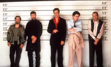 A lineup from the film The Usual Suspects