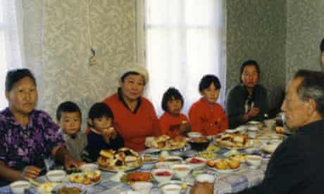 Family gathering in rural Siberia, where life can be very hard for women on their own