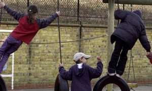 Children in a south London school playground