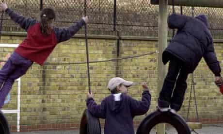 Children in a south London school playground