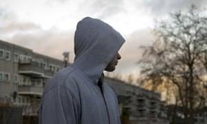 Teenager in hoodie