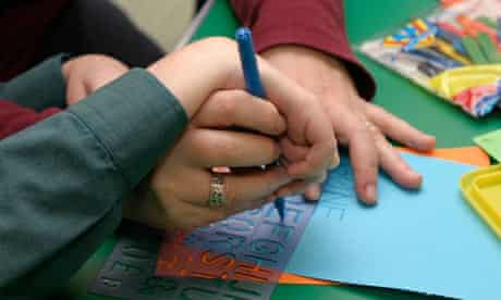 special needs child learning to write