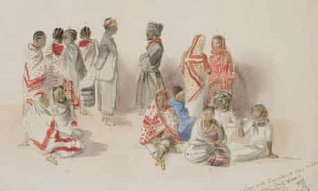 Catherine Frere's 1877 watercolour shows women in Stanleys expeditionary party