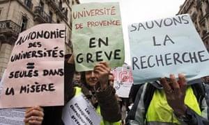 University strikes in France