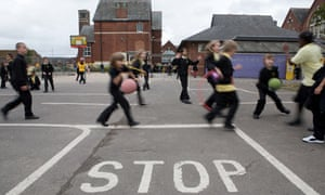 Pupils play in the playground at St Mark's junior school in Shirley, Southampton