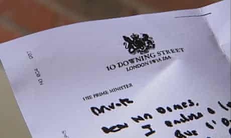 Gordon Brown's letter