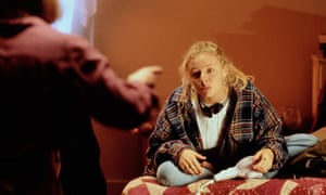 Teenage girl in bedroom having an argument with her mother