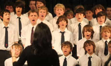 Leader of the school choir and music teacher Caroline Gale