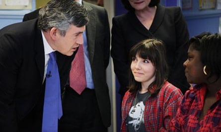 Gordon Brown school visit