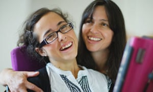 Nadia Clarke with her mother Katie
