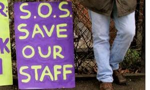 students at London Metropolitan University protest against cuts
