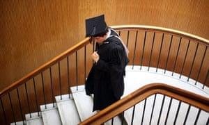 Student at University of Birmingham degree congregation