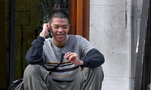 Student talking on a mobile