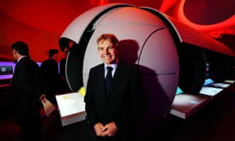 Lord Drayson, minister of science, at the Centre of the Cell, a new science education centre