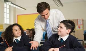 A teacher with pupils