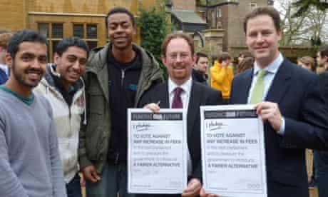 Nick Clegg signs NUS pledge on tuition fees