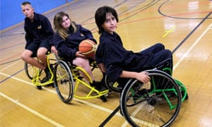 Wheelchair basketball at Ambergate sports college