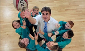 Llew Davies at Ysgol Cae Top in Bangor. He was nominated by a pupil aged 10