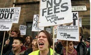 Students protest over tuition fees and cuts