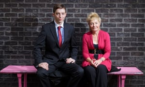 Nathan Cable, accounting student at Portsmouth University, with lecturer Caroline Willett