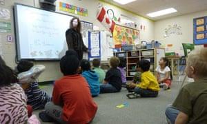 Pollard Meadows school in Edmonton. All children in Alberta are taught the same curriculum
