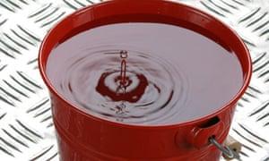 water drips into bucket