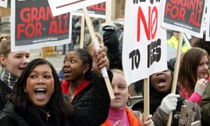 Students protest against tuition fees