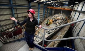 Katy Pascoe is learning to build ocean-going yachts at Pendennis Shipyard in Falmouth