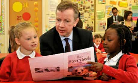 Gove at Cuckoo Hall primary in Edmonton