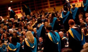 A degree ceremony at the Open University